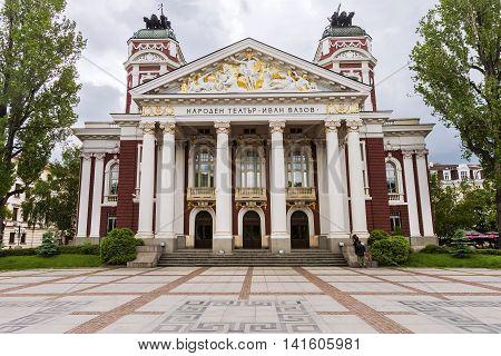 View Of Ivan Vazov National Theatre, Sofia, Bulgaria.