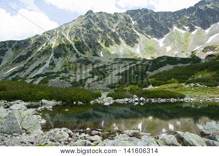 Beautiful sights in the national park in the Tatras