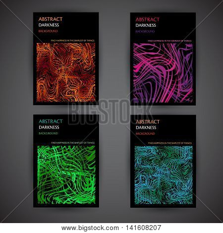 Set of Abstract background templates, retro style for brochure, poster, banner, greetings card, cover design.
