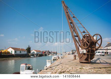 Quayside Crane Of Noirmoutier