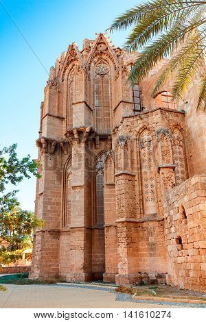 Lala Mustafa Pasha Mosque also St. Nicholas Cathedral in Famagusta, Cyprus.