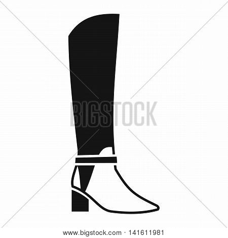 Women high boots icon in simple style isolated on white background. Wear symbol
