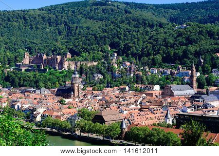 The historic town of Heidelberg in Germany