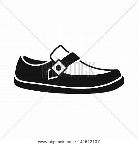 Men moccasin icon in simple style isolated on white background. Wear symbol