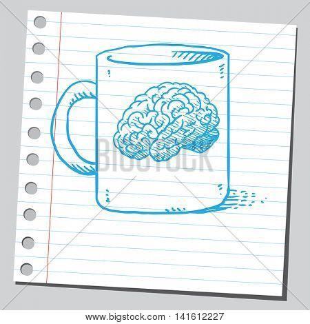 Brain on mug