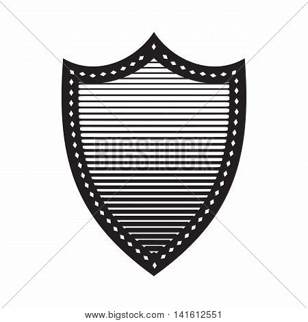 Combat shield icon in simple style isolated on white background. War symbol