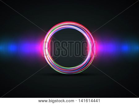Vector abstract circle on a dark background