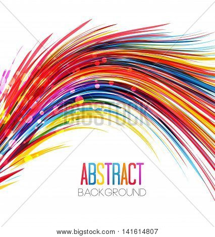 Vector colorful abstract wave on a white background