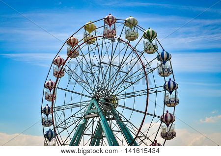 Amusement park rides in Skegnes England, fun attraction