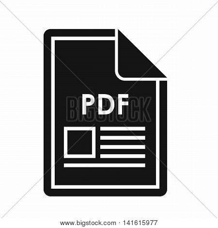 File PDF icon in simple style isolated on white background. Document type symbol