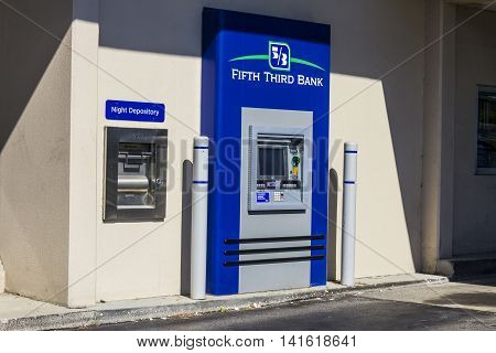 Indianapolis - Circa August 2016: Fifth Third Bank ATM. Fifth Third services 15 regions with more than 1300 locations II