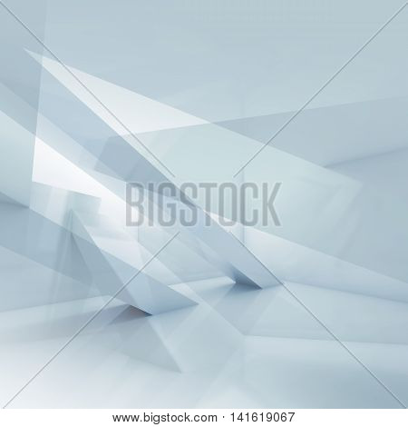 3D Abstract Blue And White Digital Background