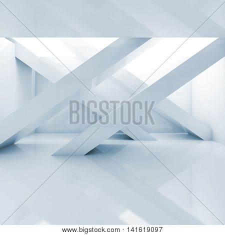 Abstract Empty Interior Square Background 3 D