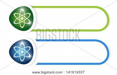 Vector button for your text and science symbol