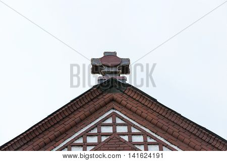Red Catholic church of St. Simon and St. Helena in Minsk, Belarus