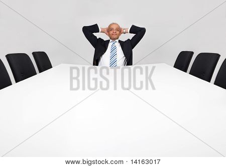 Businessman sitting alone