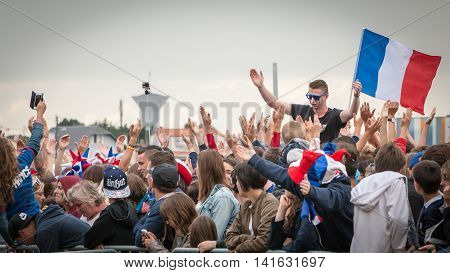 Atmosphere Of Football Fan In A Fan Zone During The Final Of The Euro 2016