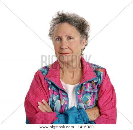 Distrustful Senior Lady
