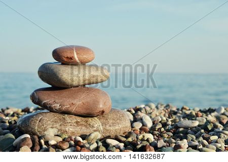 Stack Of Round Smooth Stones