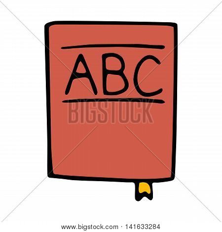 abc book icon isolated on white background in style hand draw