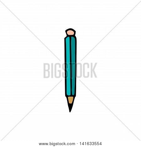Pencil Icon isolated on white background in style hand draw