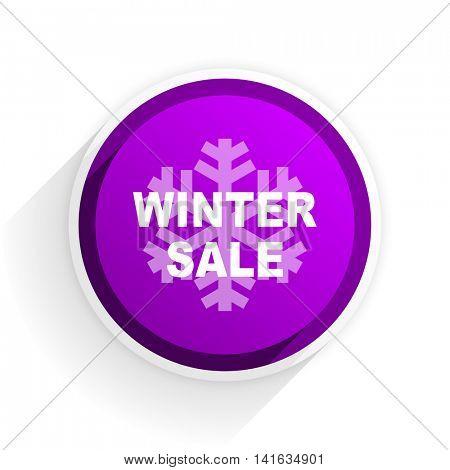 winter sale flat icon