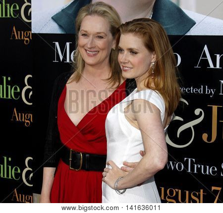 Meryl Streep and Amy Adams at the Los Angeles premiere of