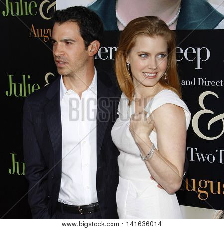 Chris Messina and Amy Adams at the Los Angeles premiere of