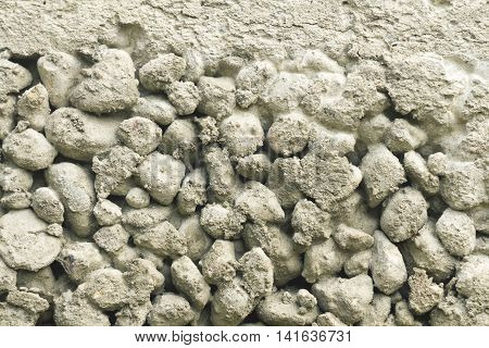gray gravel mixed cement background close- up