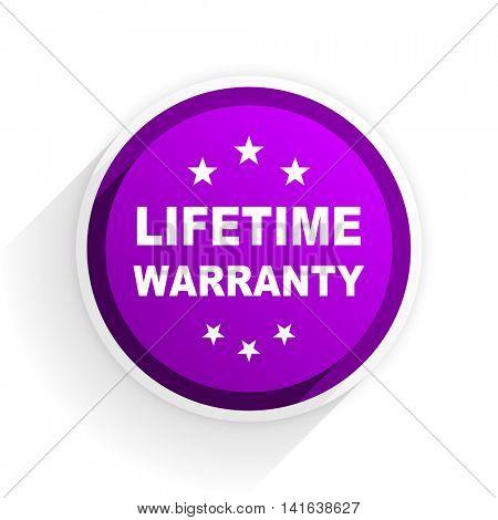 lifetime warranty flat icon
