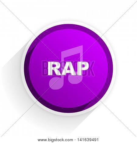 rap music flat icon