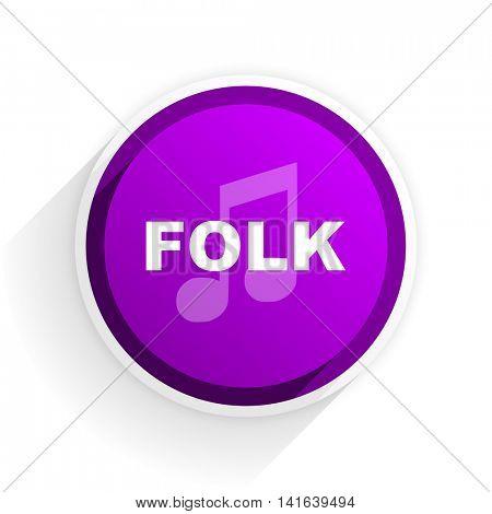 folk music flat icon