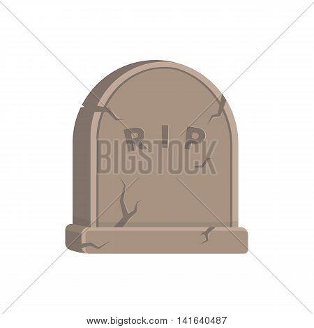 Halloween creepy symbol isolated on white. Vector illustration.