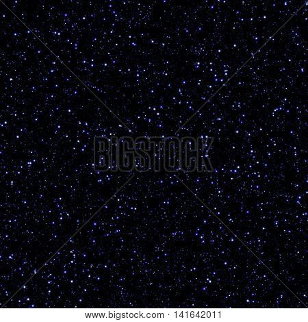 The infinite cosmic space filled with lots of blue stars