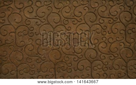 Wall panel with curly waves textures.