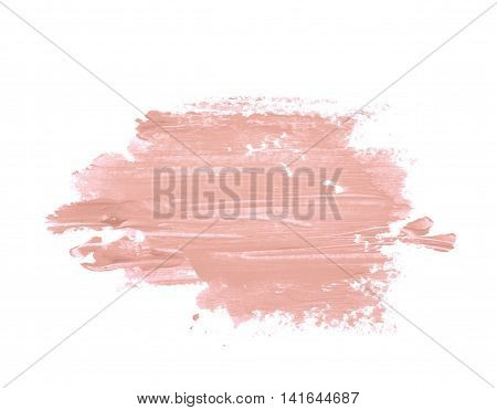Copyspace banner splash of a wax crayon paint strokes isolated over the white background
