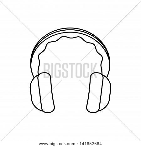 headphone music melody sound icon. Isolated and flat illustration. Vector graphic
