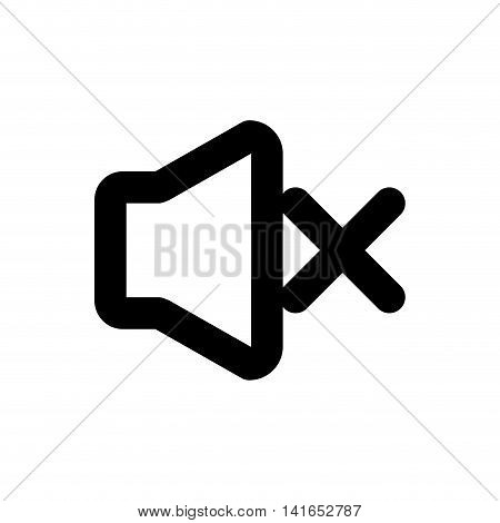 volume music melody sound icon. Isolated and flat illustration. Vector graphic