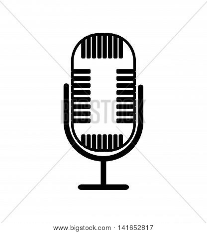 microphone music melody sound icon. Isolated and flat illustration. Vector graphic