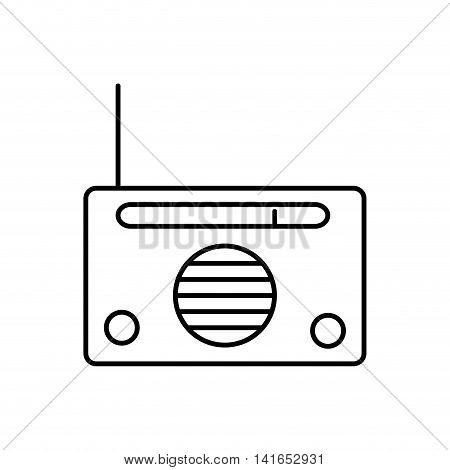 radio music melody sound icon. Isolated and flat illustration. Vector graphic