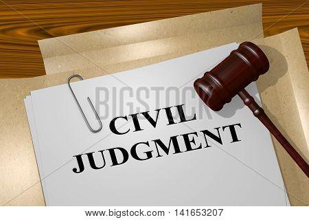 Civil Judgment - Legal Concept