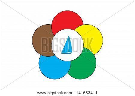 Multy colored symbol of international sailing regatta