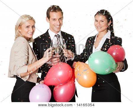 Team Selebrating Geschäftserfolg