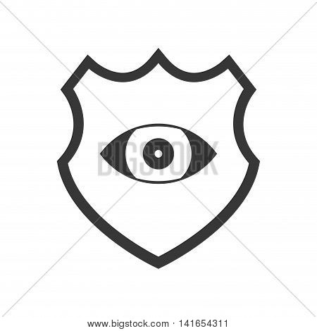 eye shield cctv security system protection technology icon. Isolated and flat illustration. Vector graphic