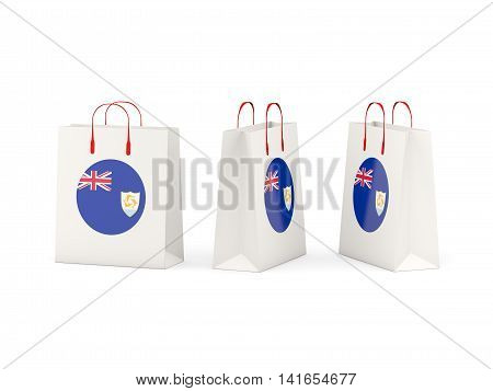 Flag Of Anguilla On Shopping Bags