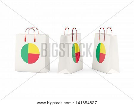 Flag Of Benin On Shopping Bags