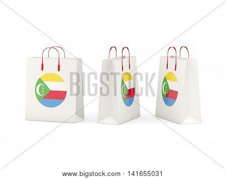 Flag Of Comoros On Shopping Bags