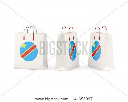 Flag Of Democratic Republic Of The Congo On Shopping Bags