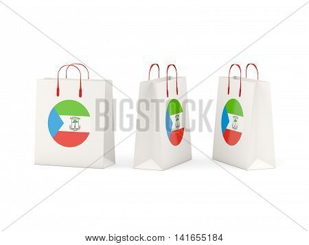Flag Of Equatorial Guinea On Shopping Bags