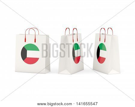 Flag Of Kuwait On Shopping Bags